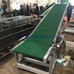 Băng tải PVC nâng hạ khung nhôm